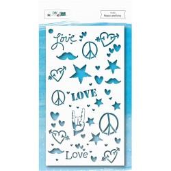 Stencil Peace and Love