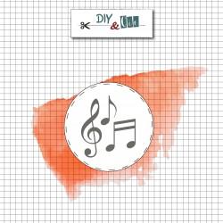 Sello de Latón Notas Musicales