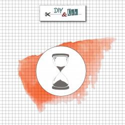 Sello de Latón Reloj de Arena