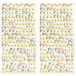 Alfabeto chipboard con foil