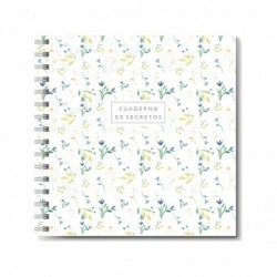 Cuaderno de espiral Flores...
