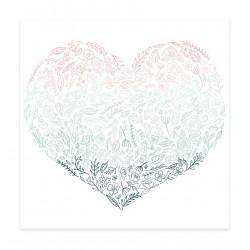Acetato Corazón de flores