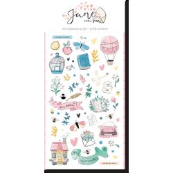 Stickers puffy JANE