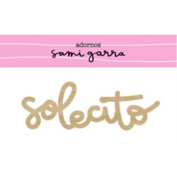 Maderita SOLECITO 9x3 cm