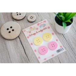Pack de 4 botones metacrilato