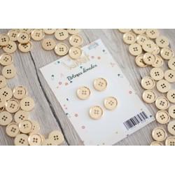 Pack de 4 botones dorados