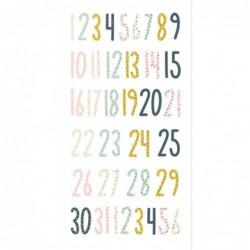Números chipboard Muérdago
