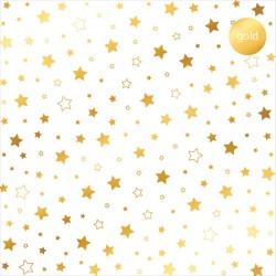 Acetato Foil - Stars Gold