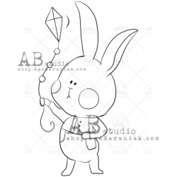 Sello Caucho ID-1014 cute hare